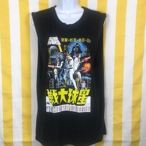 This a used Japanese Star Wars Graphic Tee